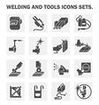 welding icon vector image vector image