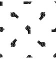 whistle pattern seamless black vector image vector image
