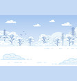 winter landscape snow-covered trees in forest vector image