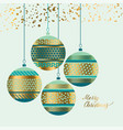 xmas pattern baubles design element vector image