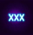 xxx neon sign vector image vector image