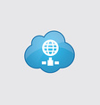 Blue cloud internet icon vector image
