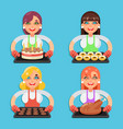 family recipe cake donut cookies fried chicken vector image