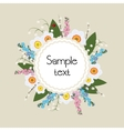 Floral Frame Circular ornament flowers vector image