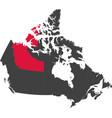 map of canada - northwest territories vector image