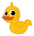 a yellow rubber duck with red bill generally used vector image