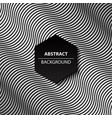 abstract curve black and white background modern vector image