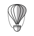 airballoon recreation vacation travel line shadow vector image