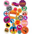 badges 80s style pop retro vector image vector image