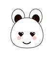 bear love kawaii cartoon design vector image vector image