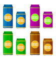 beer can flat style icon vector image vector image