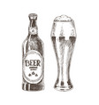 beer graphic sketch isolated on white background vector image vector image