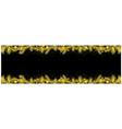 black xmas banner with golden coniferous twigs vector image vector image