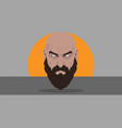 bold man with beautiful beard