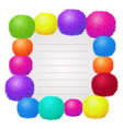 Border design with colorful ball vector image vector image