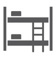 bunk bed glyph icon furniture and home bed sign vector image vector image