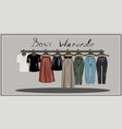 capsule basic wardrobe for a woman minimalism vector image vector image