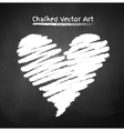 Chalked heart vector image vector image