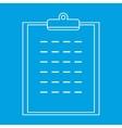 Checklist thin line icon vector image