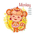 chinese year symbol monkey vector image vector image
