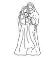 christmas nativity scene joseph and mary vector image vector image