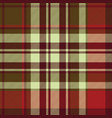 classic red tartan diagonal seamless fabric vector image vector image