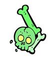 comic cartoon halloween bone number vector image vector image
