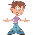 Cute Boy Cartoon Character vector image vector image