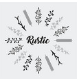 decorative rustic vintage icons set vector image vector image