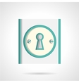 Door lock flat icon vector image