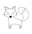 Dotted shape cute fox wild animal of the forest