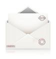 envelope confidential vector image vector image