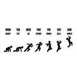 evolution running stick man vector image vector image