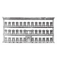 farnese palace at rome prominent high renaissance vector image vector image