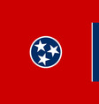 flag of the us state of tennessee detailed vector image