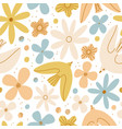 gentle birds and flowers seamless pattern vector image vector image