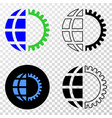 global service eps icon with contour vector image