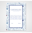 Graphic design template document with abstract vector image