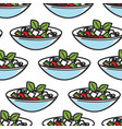 greek salad dish seamless pattern greece cuisine vector image vector image