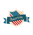 happy independence day american flag shield event vector image vector image