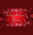 happy valentines day love holiday concept vector image vector image