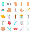 human health icons set cartoon style vector image vector image