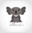 icon funny coala in flat design vector image