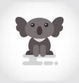 icon funny coala in flat design vector image vector image