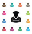 isolated sheriff icon policeman element vector image vector image