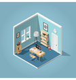 Isometric home office vector image