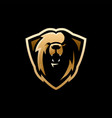 lion shield e sport logo icon vector image vector image