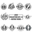 logo collection set with guitar theme vector image vector image