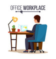 office workplace concept business man or vector image vector image