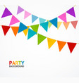 party concept banner card with buntings garland vector image vector image